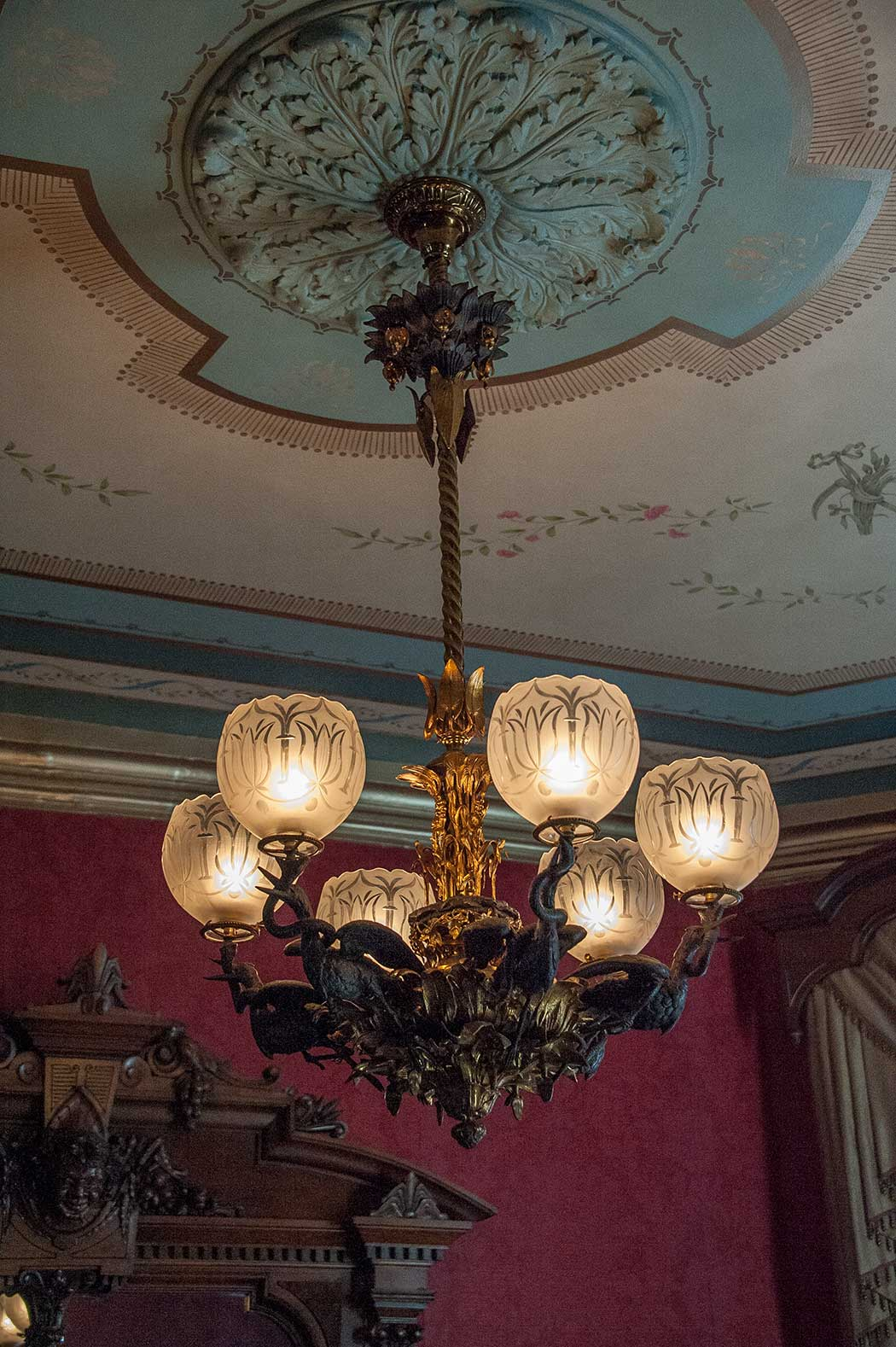 Delightful The Chandeliers Hanging In The Front Parlor And Dining Room Are Extremely  Rare Examples Of Some Of The Most Ornate Gas Lighting From The 1850u0027s.