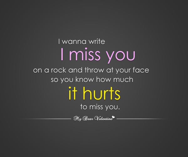 Miss You Love Quotes For Him Images & Pictures - Becuo