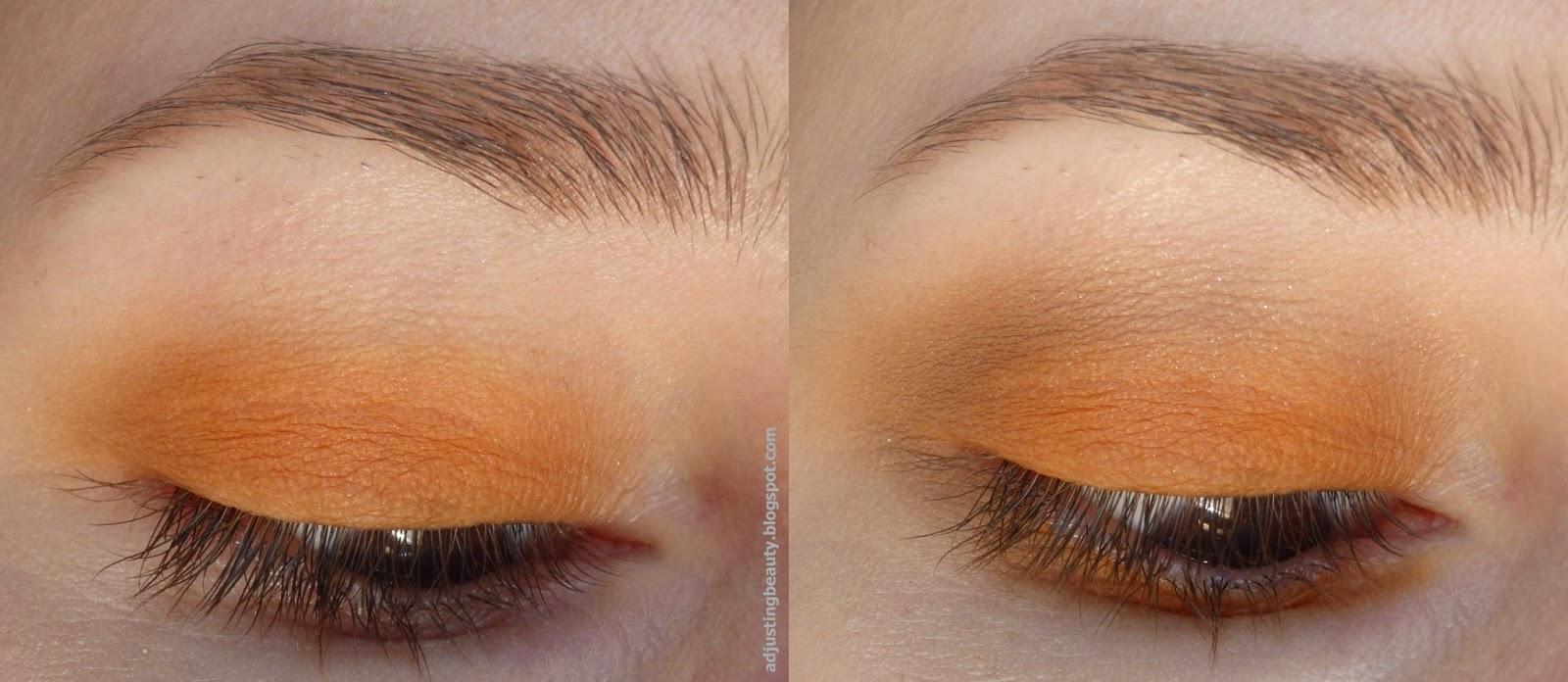 Orange eye makeup for the summer - Adjusting Beauty