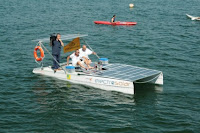 Solar powered catamaran made by Electro Solar can speeding up to 8 knots