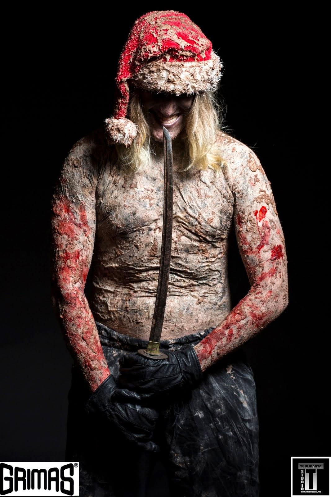 Samurai-tonttu. Maskeeraaja: Ari Savonen.