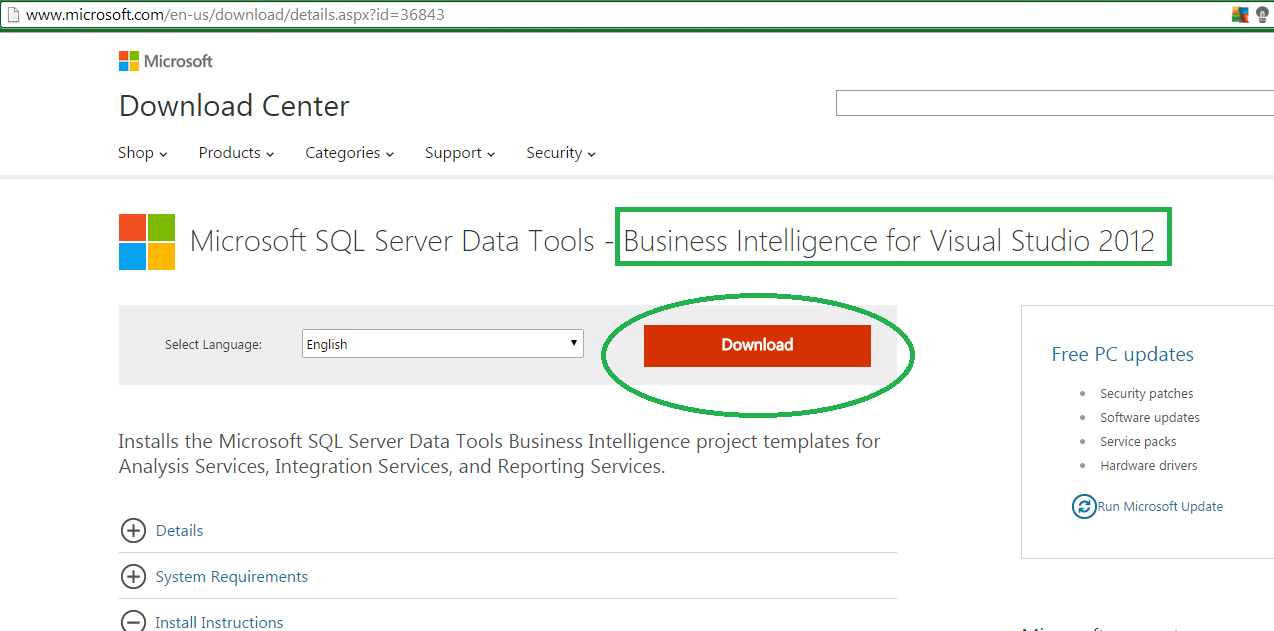 How to install Business Intelligence Development Studio (BIDS) on Visual Studio 2012 and Sql Server 2008