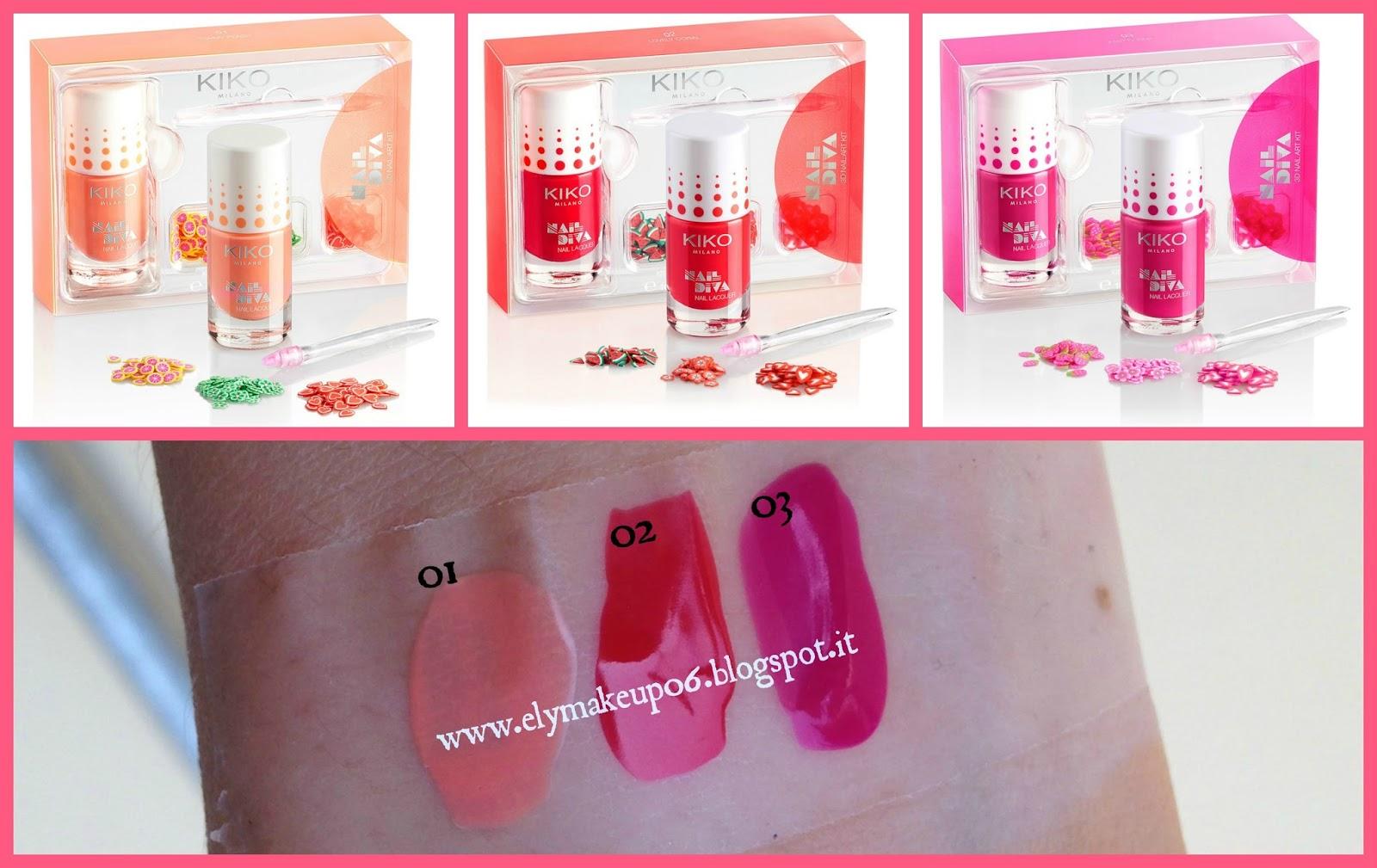 Elymakeup swatch collezione miami beach babe kiko - Diva nails prodotti ...