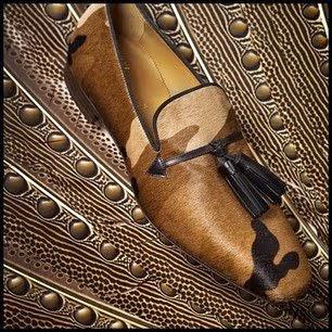 Valentino Garavani's Christian Louboutin camouflage 'Daddy Flats' - 2013 Victoria's Secret Fashion