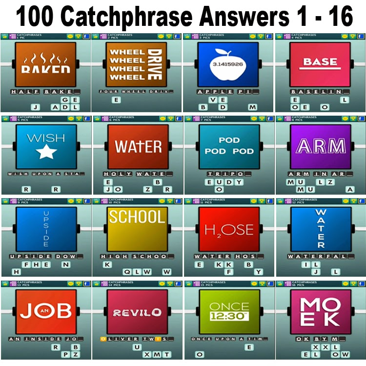 100 Catchphrase Answers