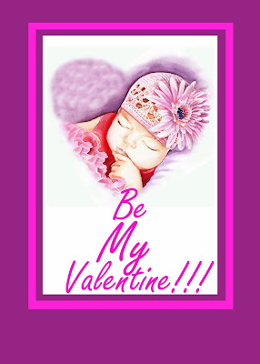 Be My Valentine watercolor card