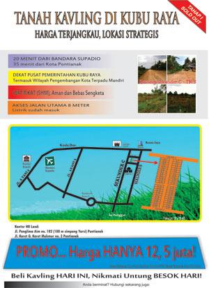 PROMO Tanah Kavling. (Klik gambar untuk info lengkap)