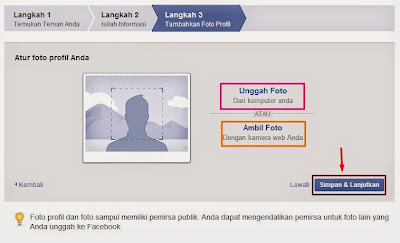 Proses upload foto Facebook