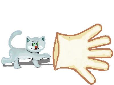 kucing dan sarung tangan
