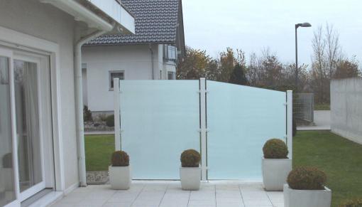 db ausbausysteme sichtschutz w nde und windschutzelemente wartungsfrei. Black Bedroom Furniture Sets. Home Design Ideas