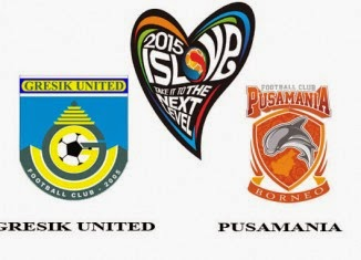Gresik United vs Pusamania Bo   rneo FC QNB League 2015