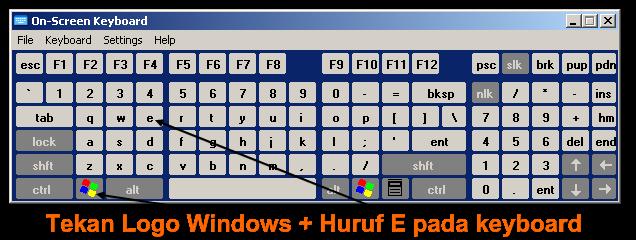 bagaimana cara mengakses windows explorer dengan cepat