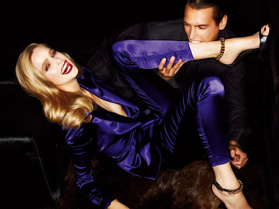 Mirte Maas & Mathias Bergh by Tom Ford for Tom Ford Spring 2012