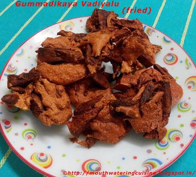 Gummadikaya Vadiyalu