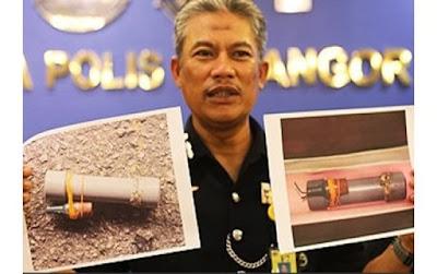 Polis Temui Bom Buatan Sendiri Dari Seorang Lelaki Di Ampang
