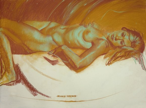 orlando sanchez ilustração pintura mulheres nuas