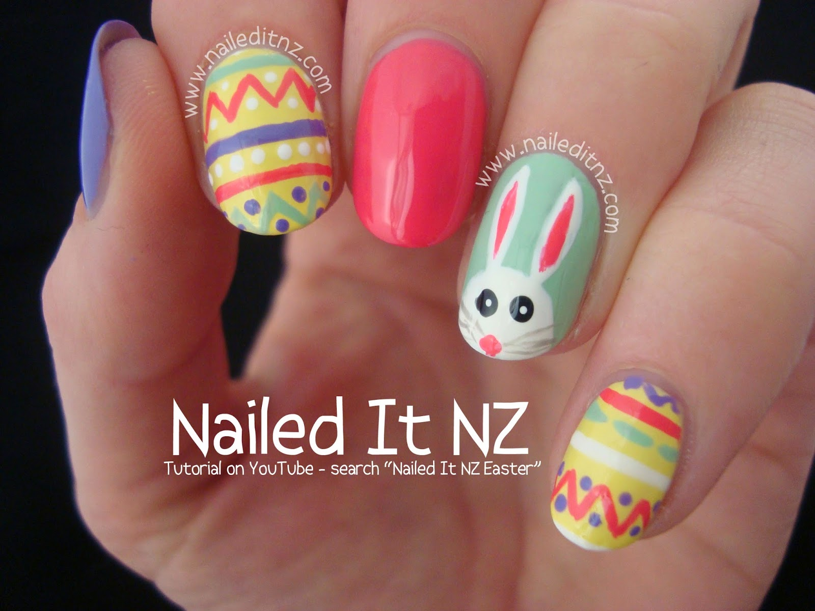 Easter Nail Art Tutorial | Bunnies & Eggs