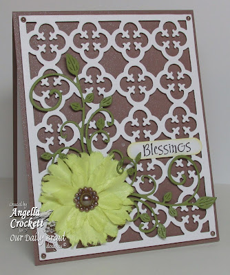 ODBD 'Quatrefoil Pattern Die', 'Sweet William - Small', Designer Angie Crockett