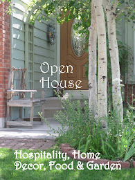 "Every Friday is ""Open House""  Come link up any post pertaining to Hospitality, Decor, Food/Garden"