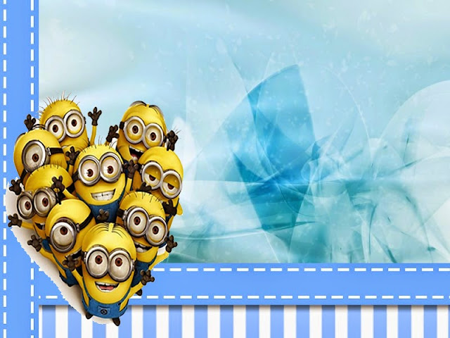 Minions Free Printable Invitations, Cards or Backgrounds.