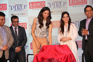 Actress Deepika Padukone Pictures in Jeans at Piku Promotion at Senco Gold and Diamonds Jewellery Store  33.JPG