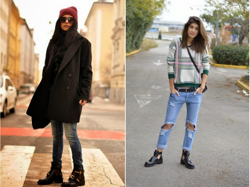 cut out boots street style