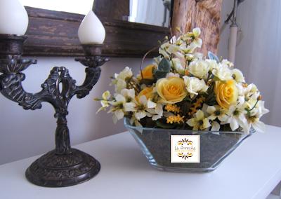 arranjo laflorecita, flores artificiais
