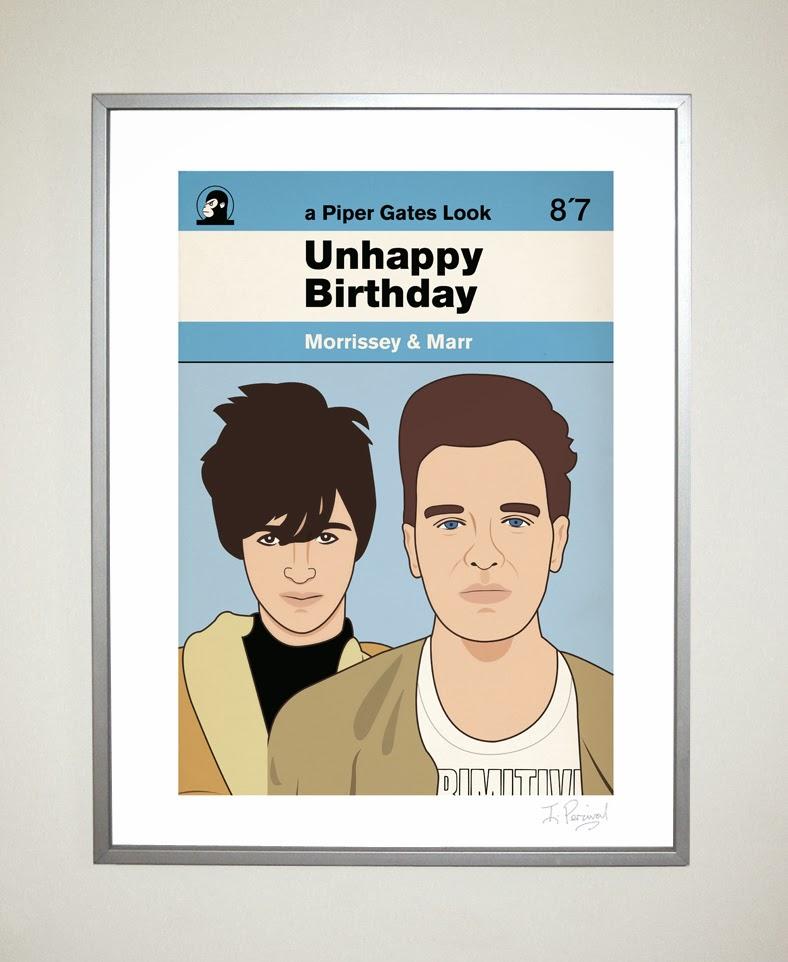 Piper Gates Design 2014 – Morrissey Birthday Card