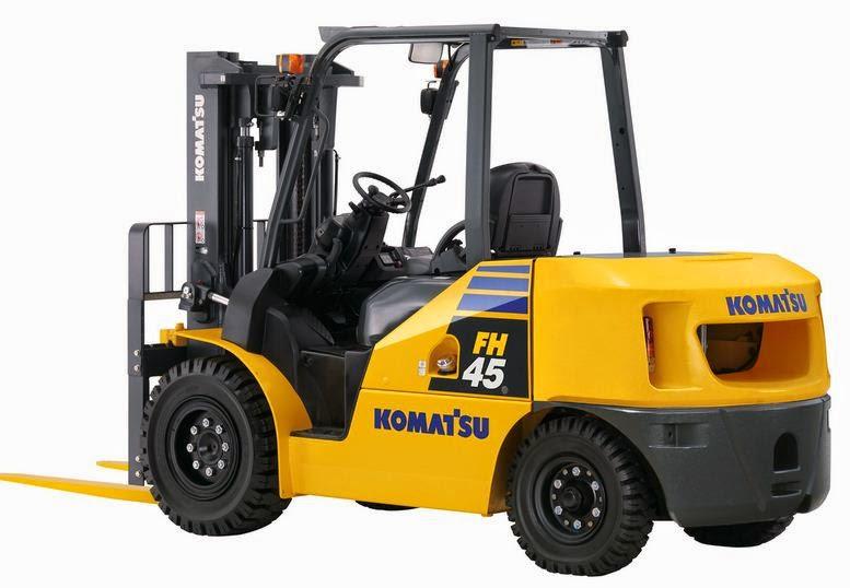 Forklift Komatsu yang Tampilannya Elegan