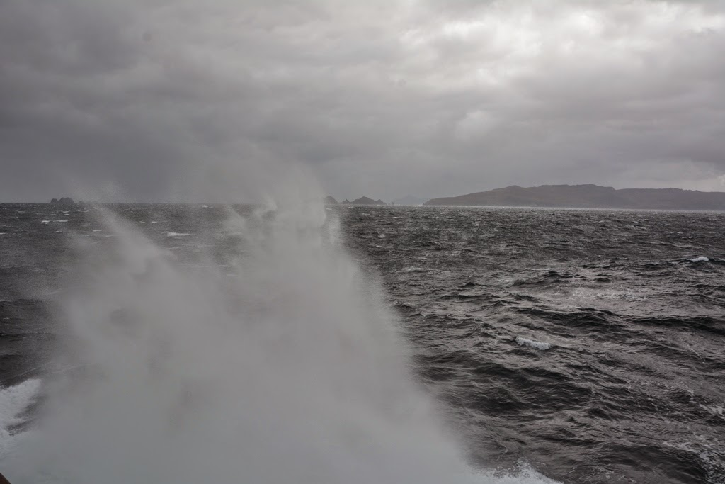 Cruising Cape Horn spray of waves