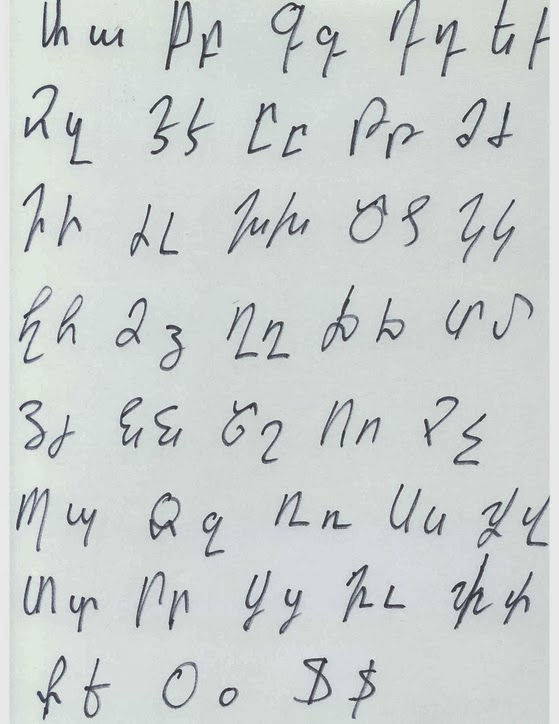 Handwriting The Alphabet