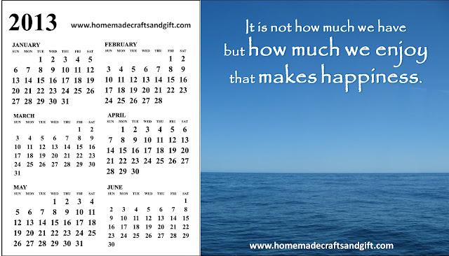 Free 2015 Calendars Bookmarks Cards 1 Big 2013 Calendar January to