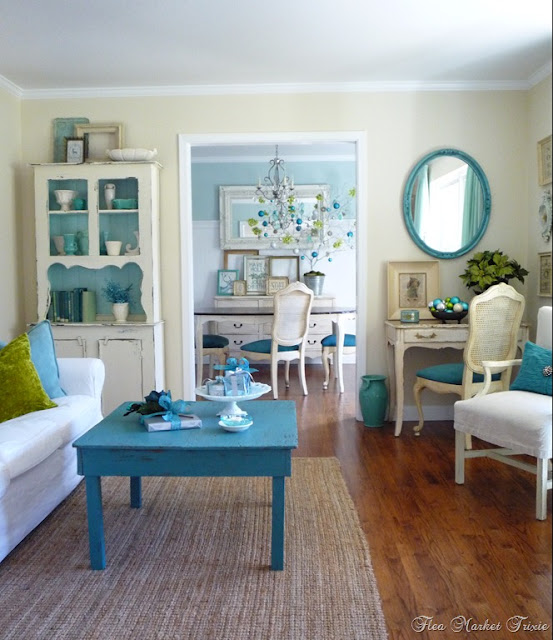 Flea market trixie for Shabby chic living room ideas on a budget