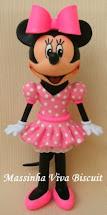 Topo de Bolo- Minnie Rosa