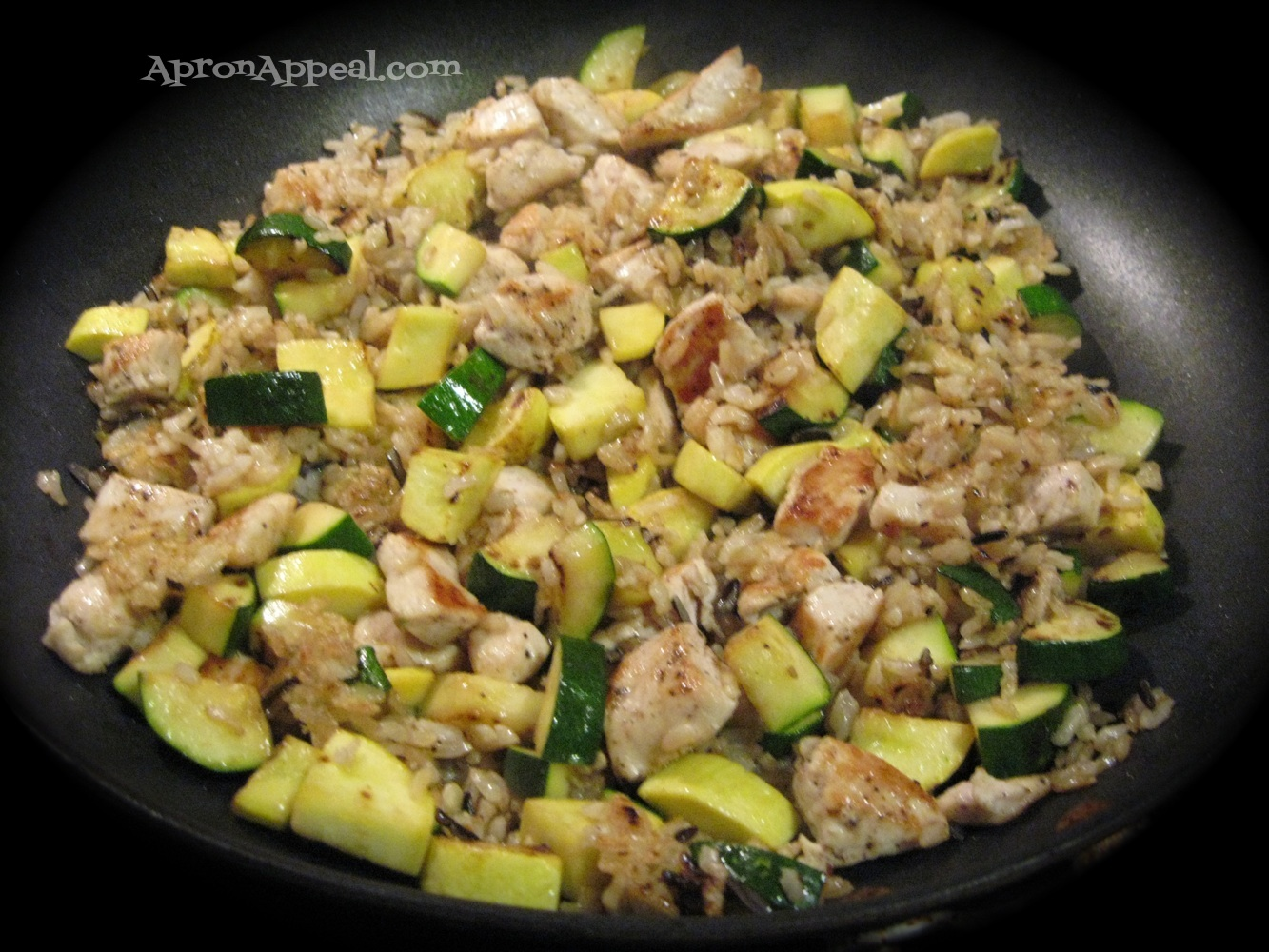 "Apron Appeal: Turkey and Summer Squash ""Stir-Fry"""