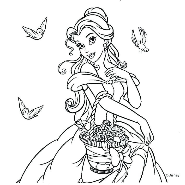 Princesas Para Colorear De Disney