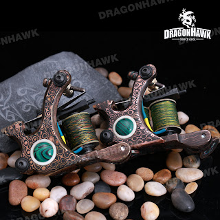Tattoo supplies custom tattoo machine damascus copper for Difference between shader and liner tattoo machine