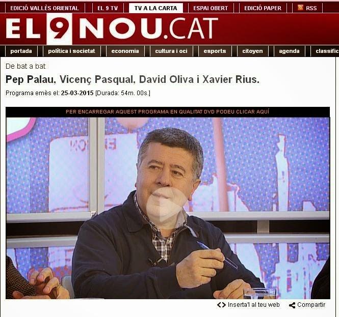 TERTÚLIA EL 9TV SOBRE COMARCA DEL MOIANÈS (Clica la imatge)