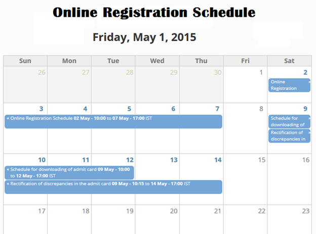 JEE Main 2015 Online Registration