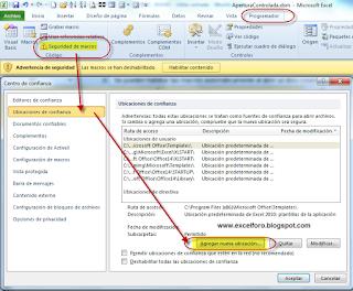 VBA: Habilitar macros de Excel automáticamente.