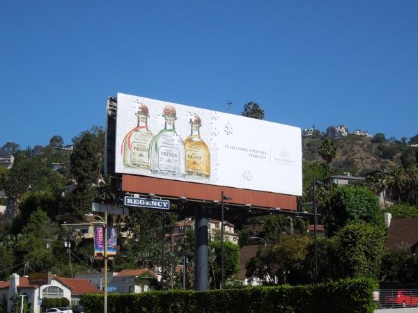 Patron Tequila jigsaw billboard ad