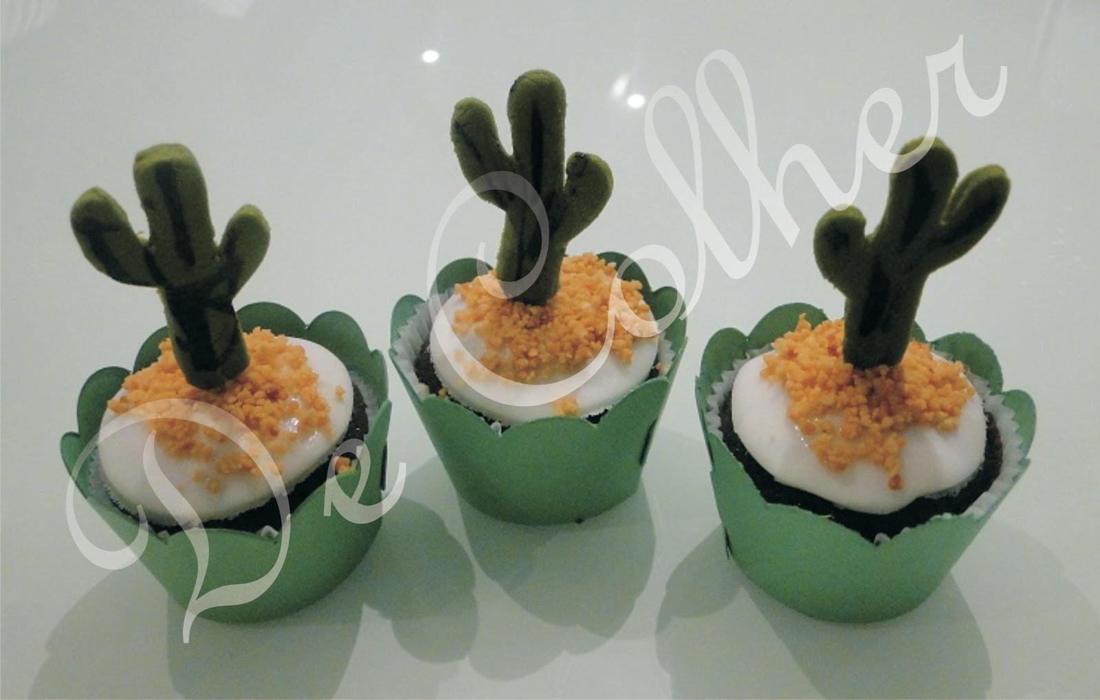 De Colher - Doces Design  Festa Mexicana!! Cupcakes de cacau ... 0f66cf27f42