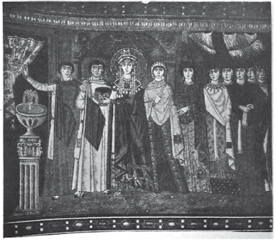 Theodora and her attendants