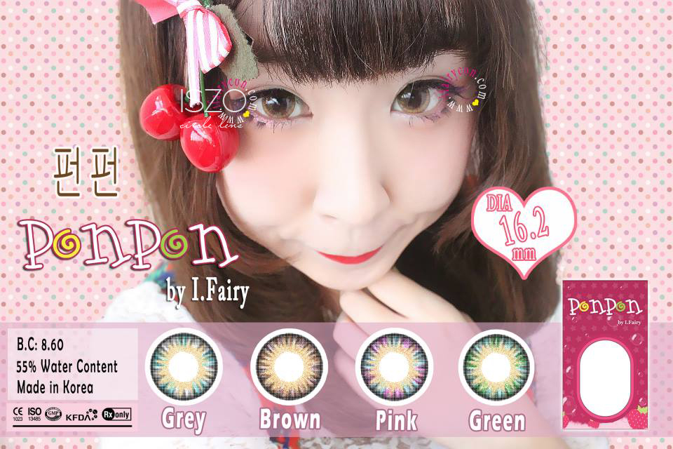 I.Fairy Pon Pon Pink lens review