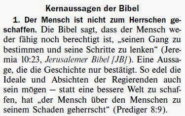 Weltregierung Bibel