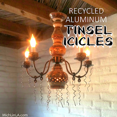 Mich L In L A Recycled Aluminum Icicle Decor