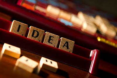 Idea - a photograph of scrabble tiles