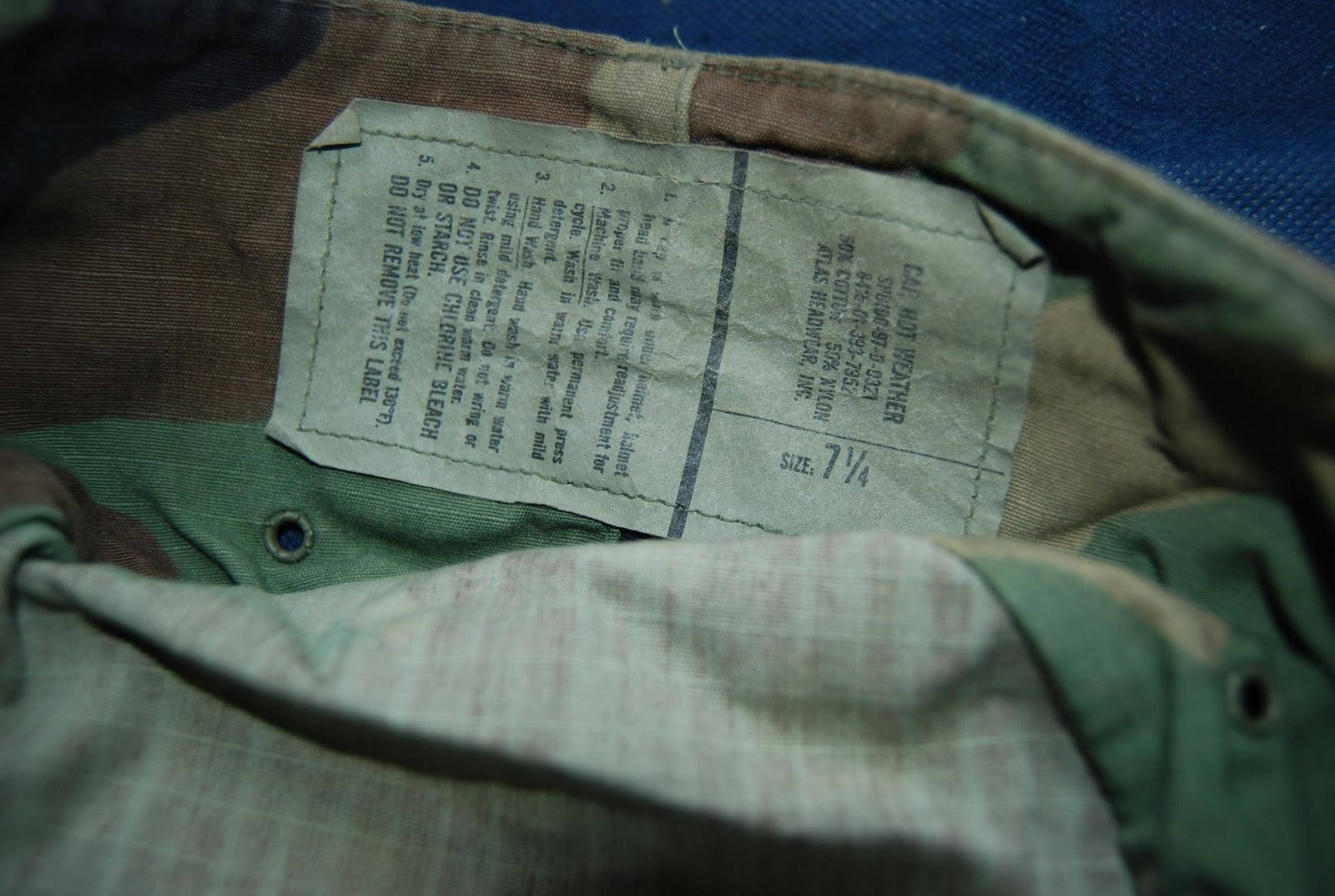 Anak Smu Hot Vtg us army hot weather cap