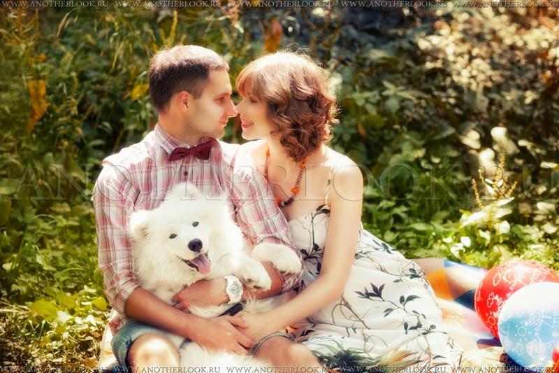Красивая фотосессия с собакой