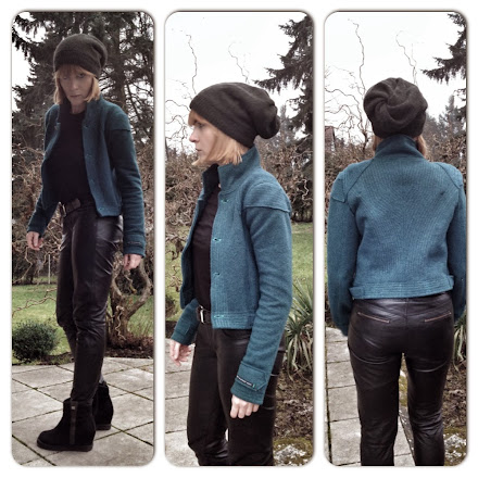 wool jacket oceanblue